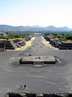 Ancient ruins of aztecs, teotihuacan, mexico