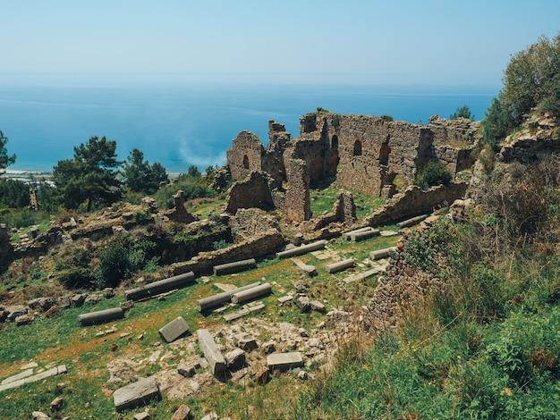 Ancient ruins near alanya city in turkey