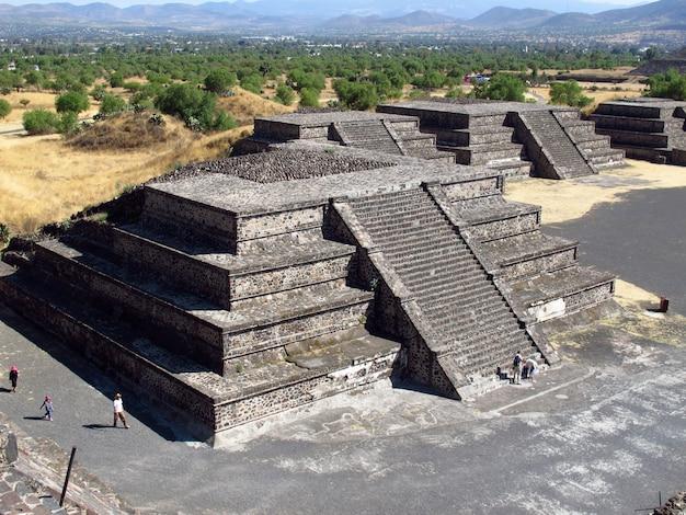 멕시코 테오 티우 아칸 아즈텍의 고 대 유적