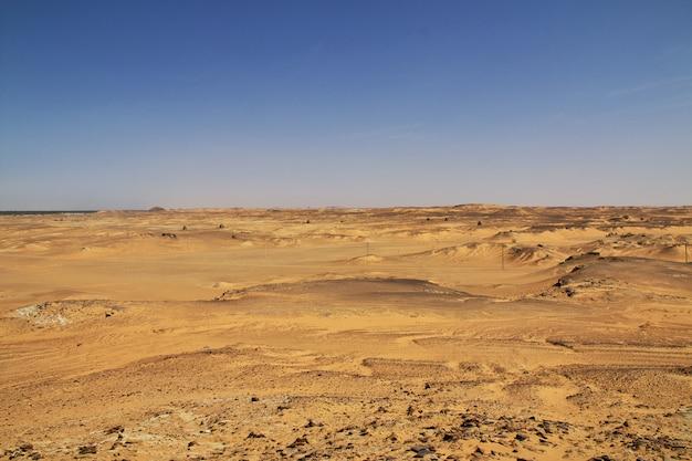 古代遺跡、スーダンの古いドンゴラ、サハラ砂漠、アフリカ