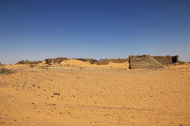Ancient ruins, old dongola in sudan, sahara deser, africa