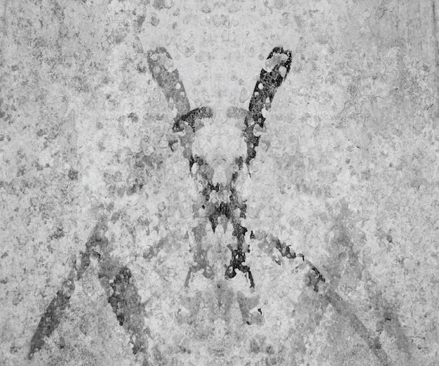 Древняя пятнистая царапина