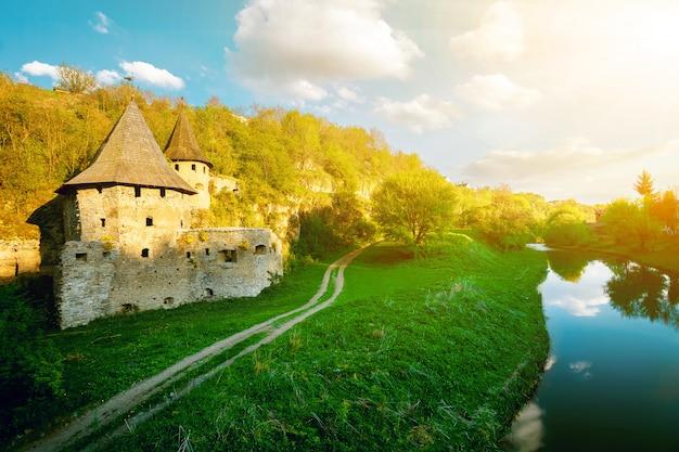 Ancient stone castle.