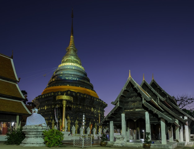 Ancient temple of wat phra that lampang luang in thailand