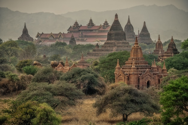 Ancient temples in bagan, myanmar