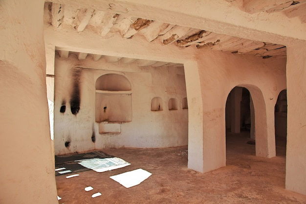 The ancient tomb in el atteuf city, sahara desert, algeria