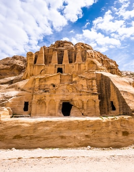 Ancient tomb in petra, jordan