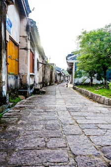 Ancient town, longhu city, c