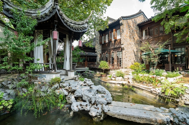 Улицы древнего города в нанкине, китай