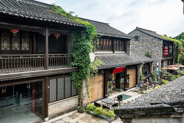 Ancient town streets in nanjing china