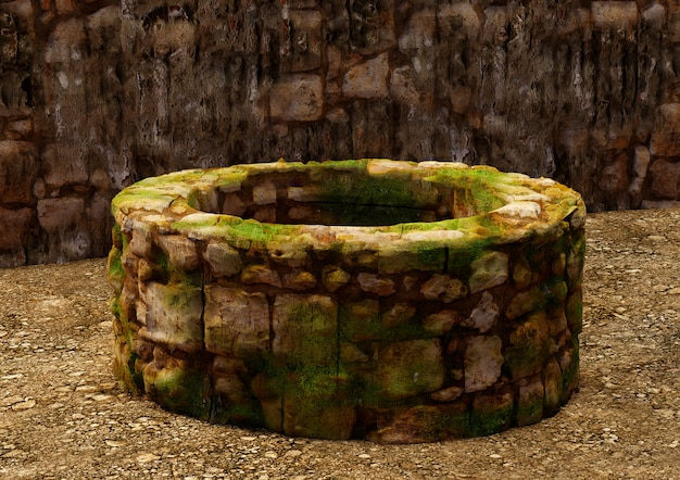 Ancient water well, typical in the biblical cities of israel