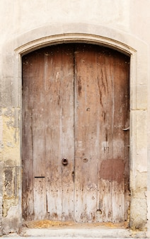 The ancient a wooden door in spain
