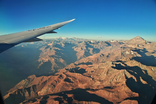 Анды, вид с самолета