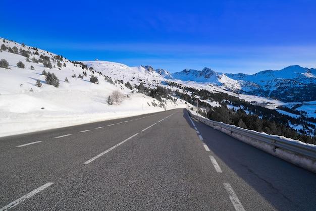 Andorra grandvalira sector road pyrenees