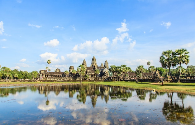 Angkor wat, the ancient castle in cambodia