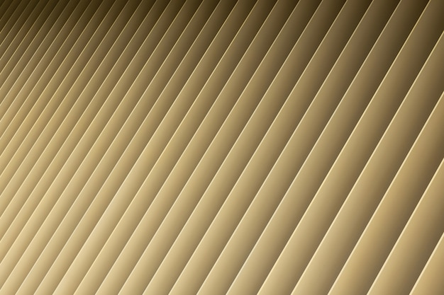 Angle view of beige gradient 3d stripes. louvre shutters like pattern and shadow.