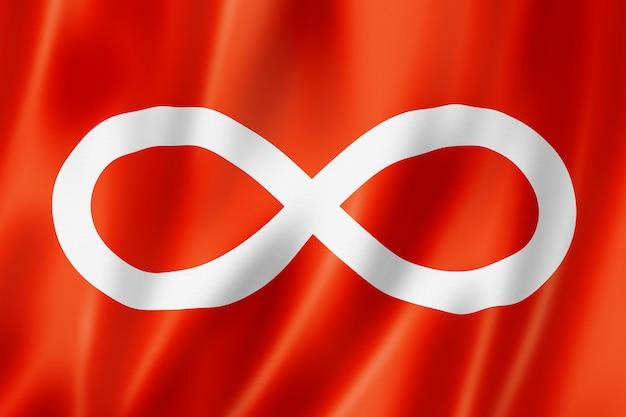 Этнический флаг англо-метис, америка