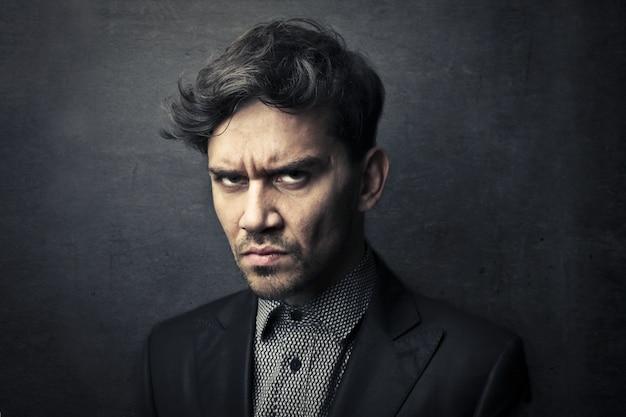 Angry aggressive man