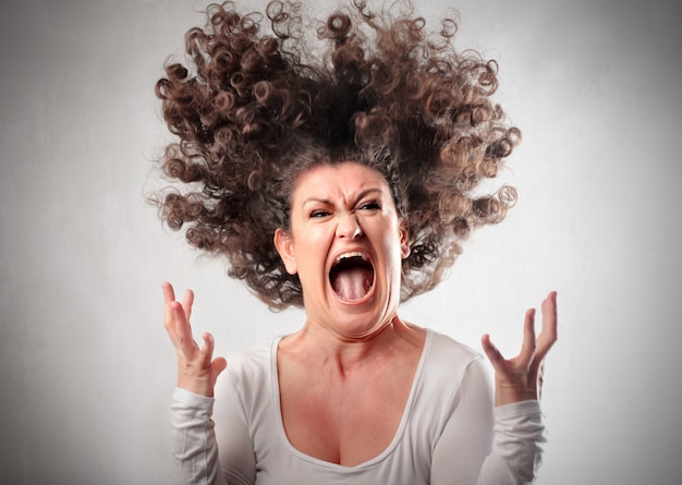 Angry crazy woman