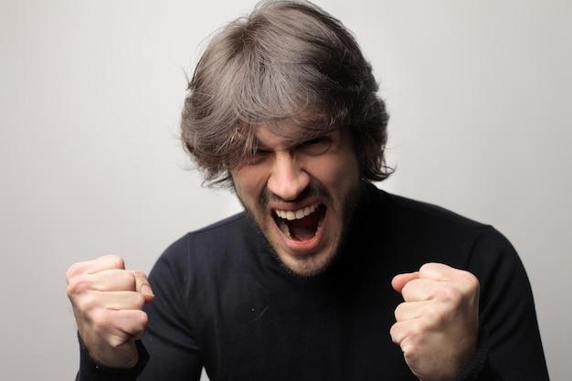 Angry furious man