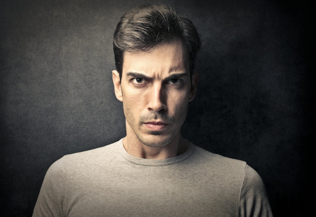 Angry serious looking guy