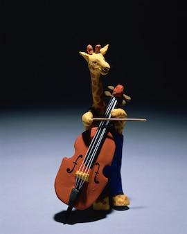Animal giraffe cello music