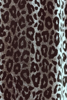 Animal pattern of leopard on soft fabric