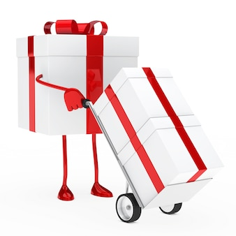 Animated gift using a trolley