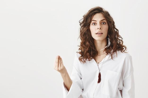 Annoyed woman having an argument