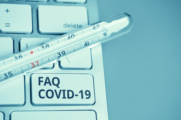 Answers and questions concept faq covid symptoms