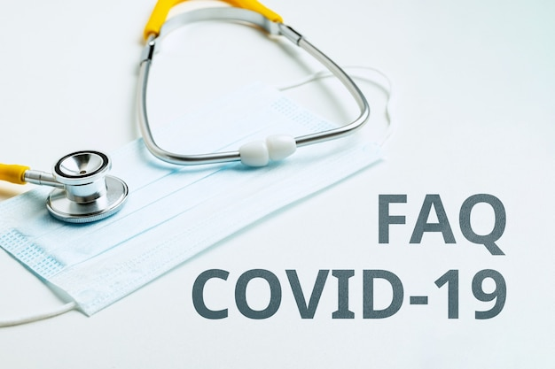 Answers and questions concept faq covid