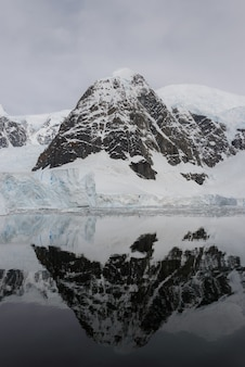 Antarctic landscape with reflection