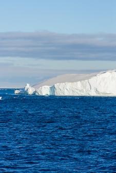 Antarctic seascape with iceberg