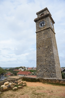 Anthonisz memorial clock tower in galle, sri lanka