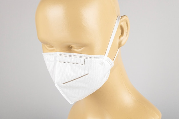 Anti air pollution face mask on a mannequin