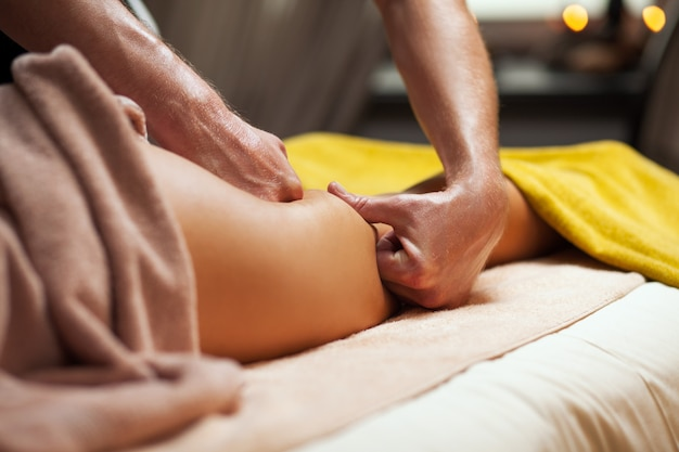 Anti cellulite massage in a luxury spa
