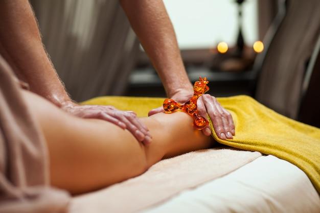 Anti cellulite massage in a luxury spa