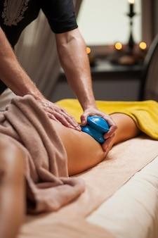 Anti-cellulite massage in a spa