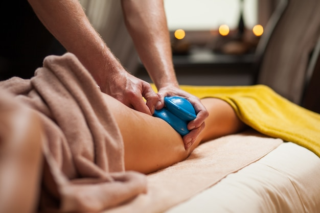 Anti-cellulite massage in a spa