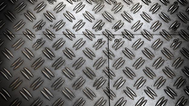 안티 슬립 금속 시트 바닥 실버 컬러 배경