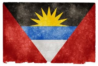 Antigua and barbuda grunge flag  vintage