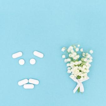 꽃가루 꽃가루 알레르기에 대한 항히스타민 제 정제 및 캡슐