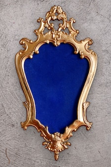 Antique baroque golden frame