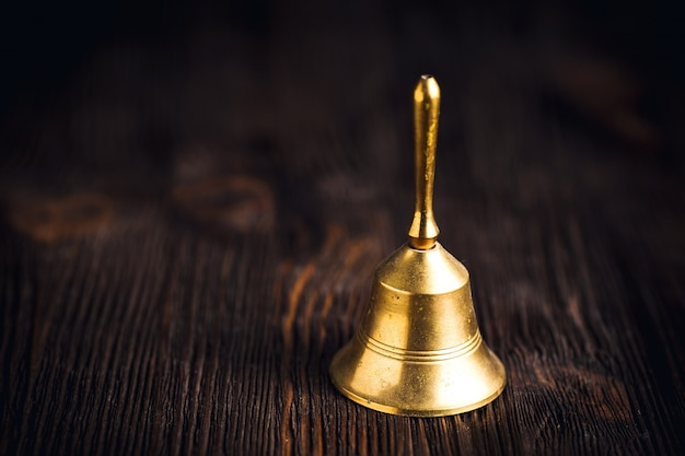 Antique brass hand bell