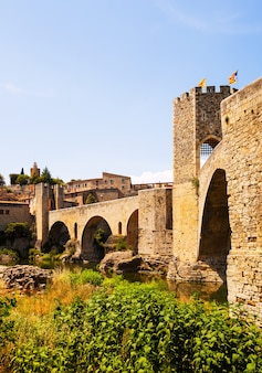 Antique bridge,  besalu, catalonia