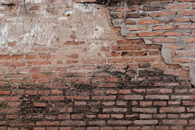 붉은 color.texture 그런 지 배경의 골동품 갈색 벽돌 벽.