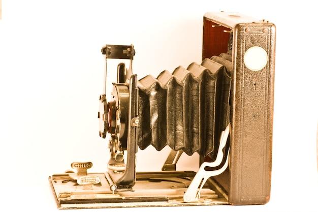 1900년에 만들어진 골동품 카메라, 현재 이탈리아 컬렉션에 있는 독일산