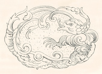 Antique Chinese pattern