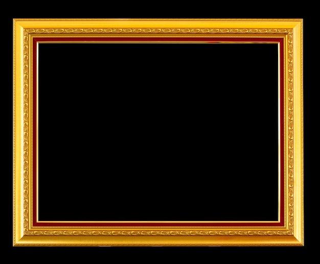 Antique frame on black background