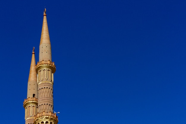 Antique golden minaret